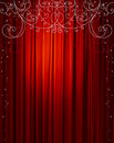 Red curtain, vector Stock Photography