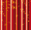 Red curtain with yellow sparkles Stock Image