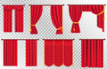 Red Curtains Set. Theater Curtain Illustration Royalty Free Stock Photo