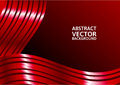Red curve abstract vector background with copy space