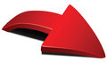 Red curved arrow Royalty Free Stock Photo