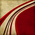 Red curved line background Stock Photography