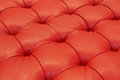 Red cushion top of a seat Royalty Free Stock Images