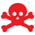Red danger scull icon Royalty Free Stock Photos