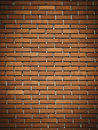 Red dark brick wall Royalty Free Stock Photo