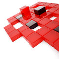 Red and dark glass cubes Royalty Free Stock Images