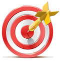 Red darts target aim successful shoot vector illustration Royalty Free Stock Images
