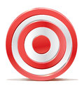 Red darts target aim on white background created without transparencies only gradients Stock Image