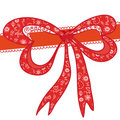 Red  decorational holidays bow Royalty Free Stock Images