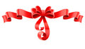 Red decorative bow with ribbon Stock Photo