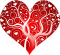 Red decorative heart Stock Photos