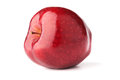 Red delicious apple white background shadows Royalty Free Stock Photos