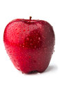Red delicious apple white background shadows Stock Photos