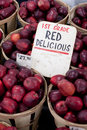 Red Delicious Apples For Sale Stock Image