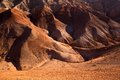 Red desert mountains in kazakhstan Stock Photo