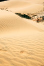 Red desert the with sand in vietnam near mui ne Royalty Free Stock Photography