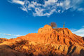 Red Desert and Scattered Rocks Royalty Free Stock Photo