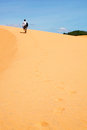 Red desert in vietnam near mui ne Stock Photos