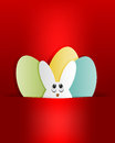 Red design, Easter Bunny