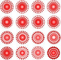 Red designs Stock Image