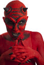 Red devil. Royalty Free Stock Photo