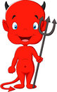 Red devil cartoon Royalty Free Stock Photo