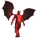Red devil with wings Royalty Free Stock Photo