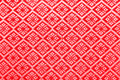 Red diamond pattern fabric background Royalty Free Stock Photography