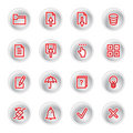 Red diary icons Royalty Free Stock Photos