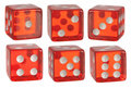 Red dice Royalty Free Stock Photo