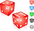 Red Dice Collection Royalty Free Stock Photos