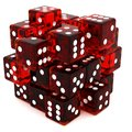 Red Dice cube Royalty Free Stock Images