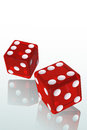 Red dice d illustration with clipping path Royalty Free Stock Images