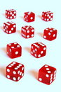 Red dice horizon Royalty Free Stock Photo