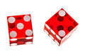 Red dice isolated Royalty Free Stock Photo