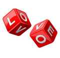 Red dice. Love Royalty Free Stock Photo