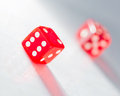 Red the dice two on a light background Royalty Free Stock Photography