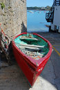 Red dinghy boat Royalty Free Stock Image