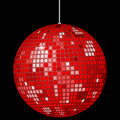 Red disco ball Royalty Free Stock Image