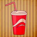 Red disposable cup Royalty Free Stock Photo