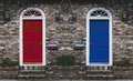 Red Door Blue Door Royalty Free Stock Photo
