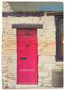 Red door in France Royalty Free Stock Photos