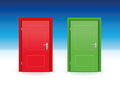 Red Door Green Door Royalty Free Stock Photo