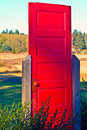 Red door in the northwest artists rendition to united states Royalty Free Stock Images