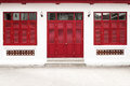 Red door temple bangkok thailand Royalty Free Stock Photos