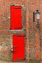 Red doors Royalty Free Stock Photo