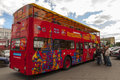 Red double-decker bus in Moscow Royalty Free Stock Image