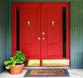 Red Double Door Entry Royalty Free Stock Photo