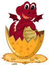 Red dragon hatching egg