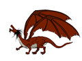 Red dragon illustration of a against white background Royalty Free Stock Photo